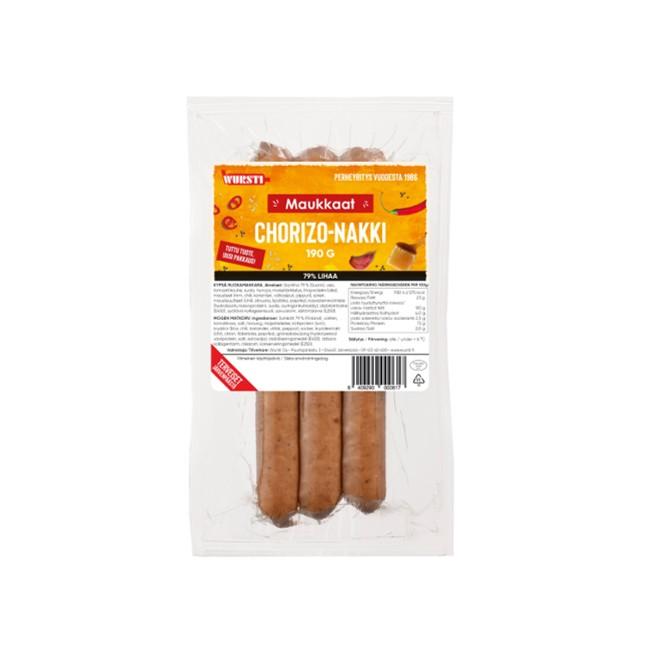 Maukkaat Chorizo nakki